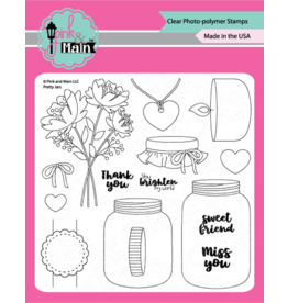 Pink and Main Pretty Jars Clear Stamp Set