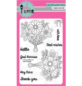Pink and Main Sweet Bouquets Clear Stamp Set