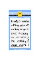 Sunny Studio Heartfelt Wishes - Clear Stamp Set