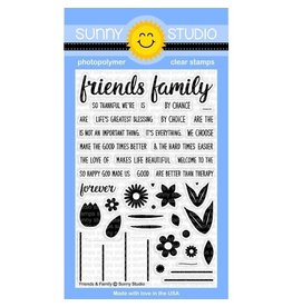 Sunny Studio Friends & Family Clear Stamps