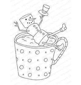 Impression Obsession Snowman Mug - Cling Stamp