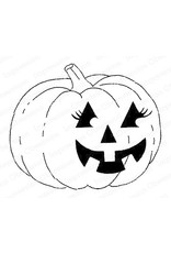 Impression Obsession Flirty Pumpkin - Cling Stamp