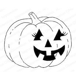 Impression Obsession Flirty Pumpkin - Cling Stamp