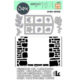 Ellison/Sizzix Window Box - Sizzix Texture Impression Embossing folder