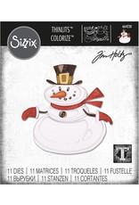 Ellison/Sizzix Mr. Snowman, Colorize - Thinlits