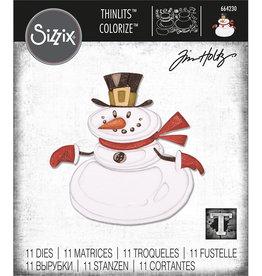 Ellison/Sizzix Mr. Snowman , Colorize - Thinlits