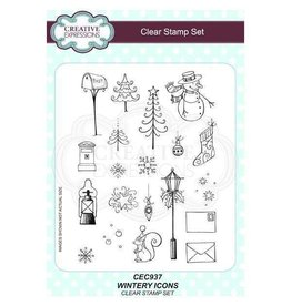 Creative Expressions Wintery Icons - Stamp Set