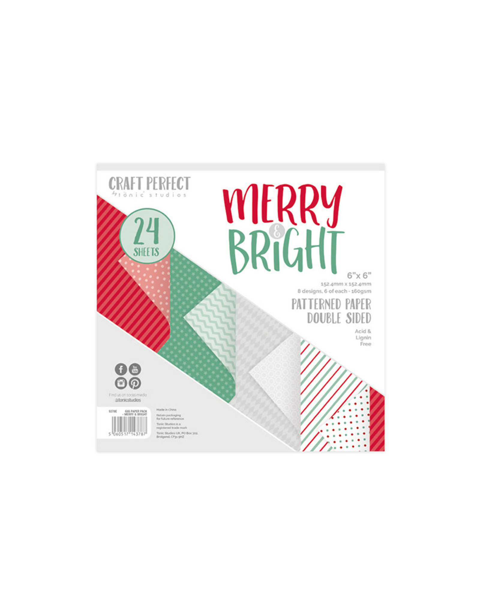 Craft Perfect Merry & Bright - 6x6 Paper Pad