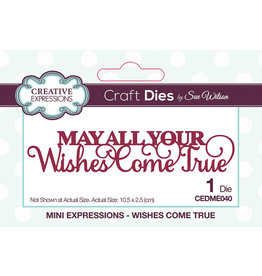 Creative Expressions Wishes Come True - Mini Expressions Die