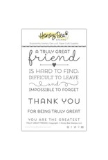 Honey Bee Stamps Truly Great Friends - Clear Stamp Set