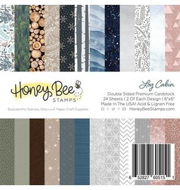 Honey Bee Stamps Log Cabin - 6x6 Pad Double-Sided Premium Cardstock