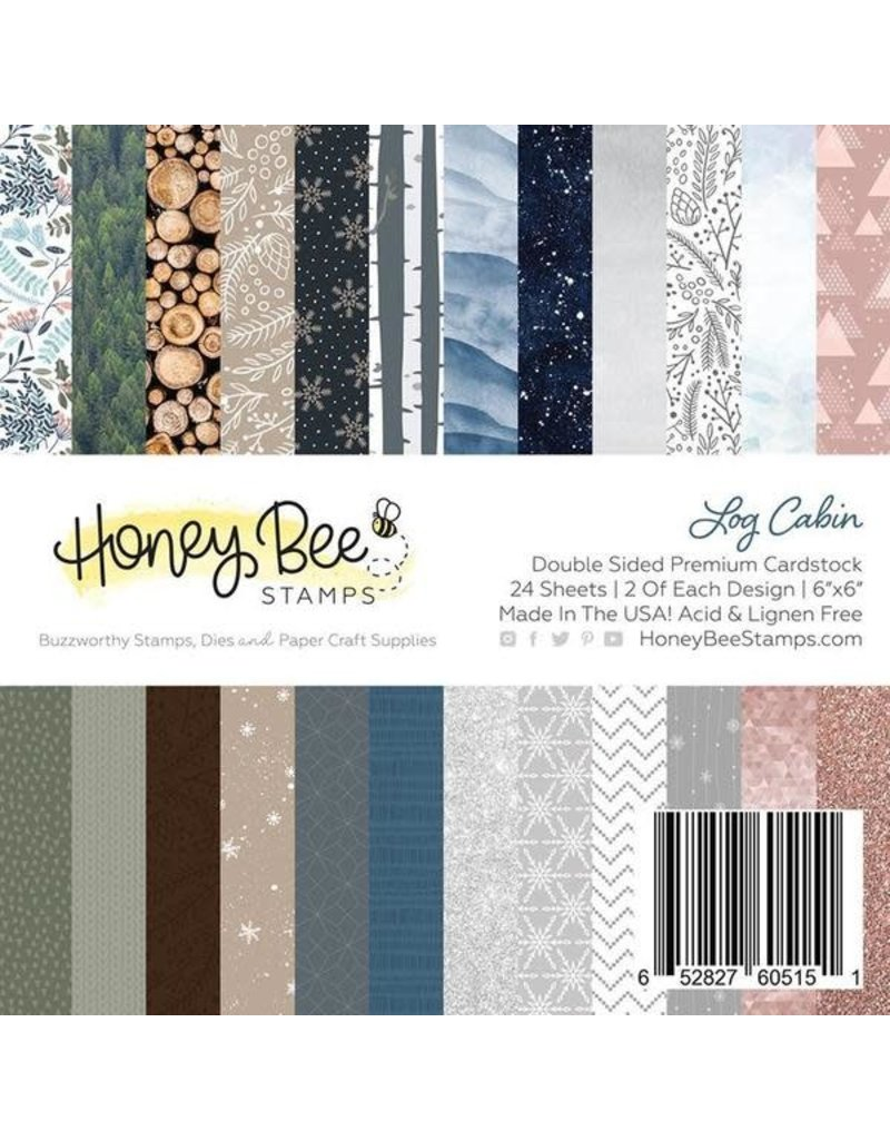 Honey Bee Stamps Log Cabin - 6x6 Double-Sided Premium Paper Pad