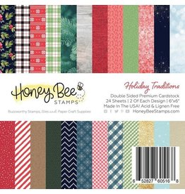 Honey Bee Stamps 6x6 Double-Sided Premium Cardstock - Holiday Traditions