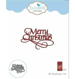Elizabeth Craft Designs A Way With Words, Merry Christmas - Small - Die Set