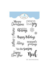 Elizabeth Craft Designs Classic Christmas Sentiments - Clear Stamps