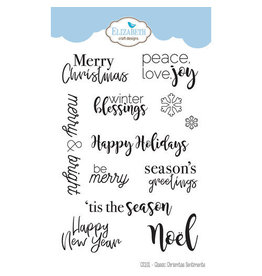 Elizabeth Craft Designs Classic Christmas Sentiments -Stamp Set