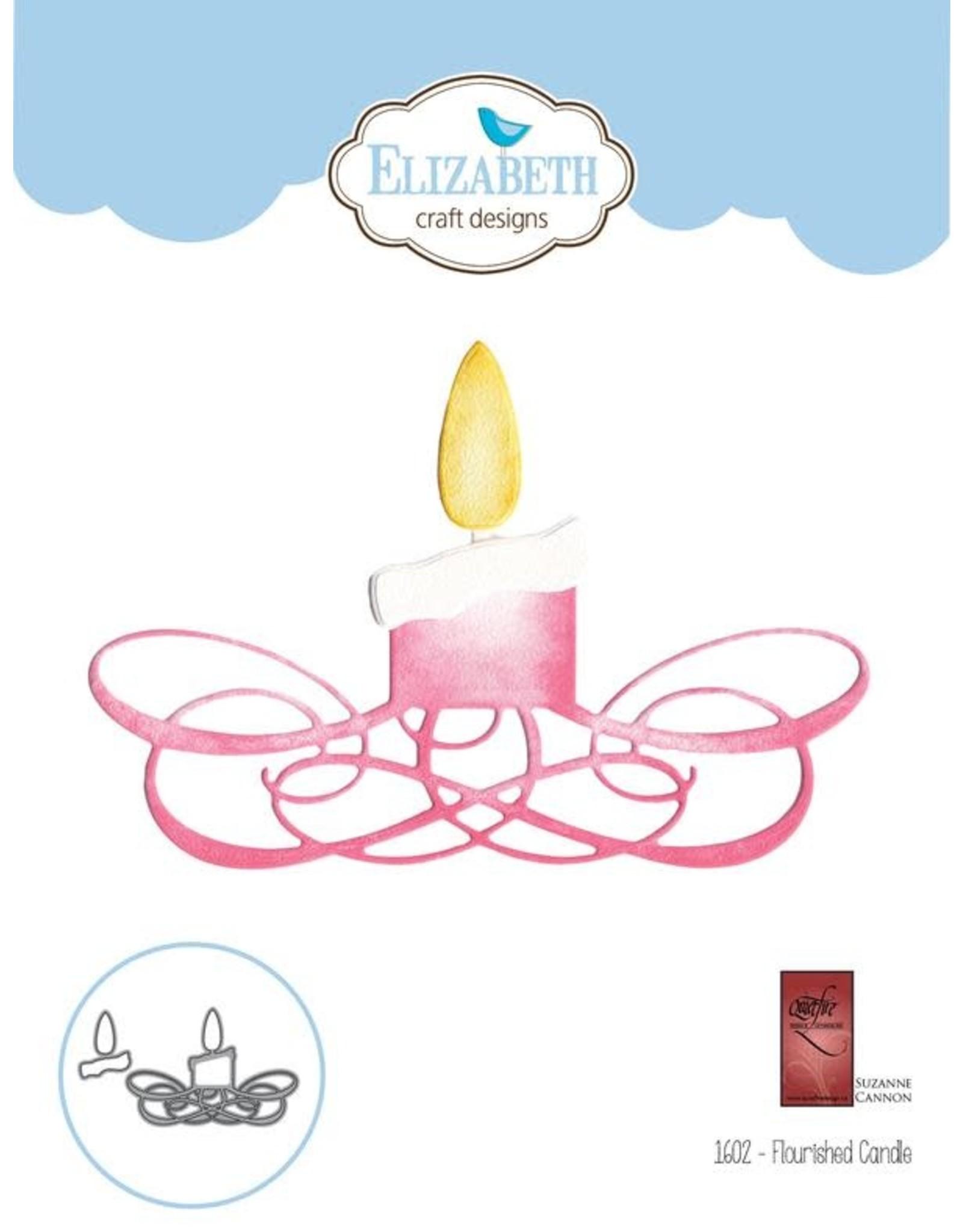 Elizabeth Craft Designs Flourished Candle - Die
