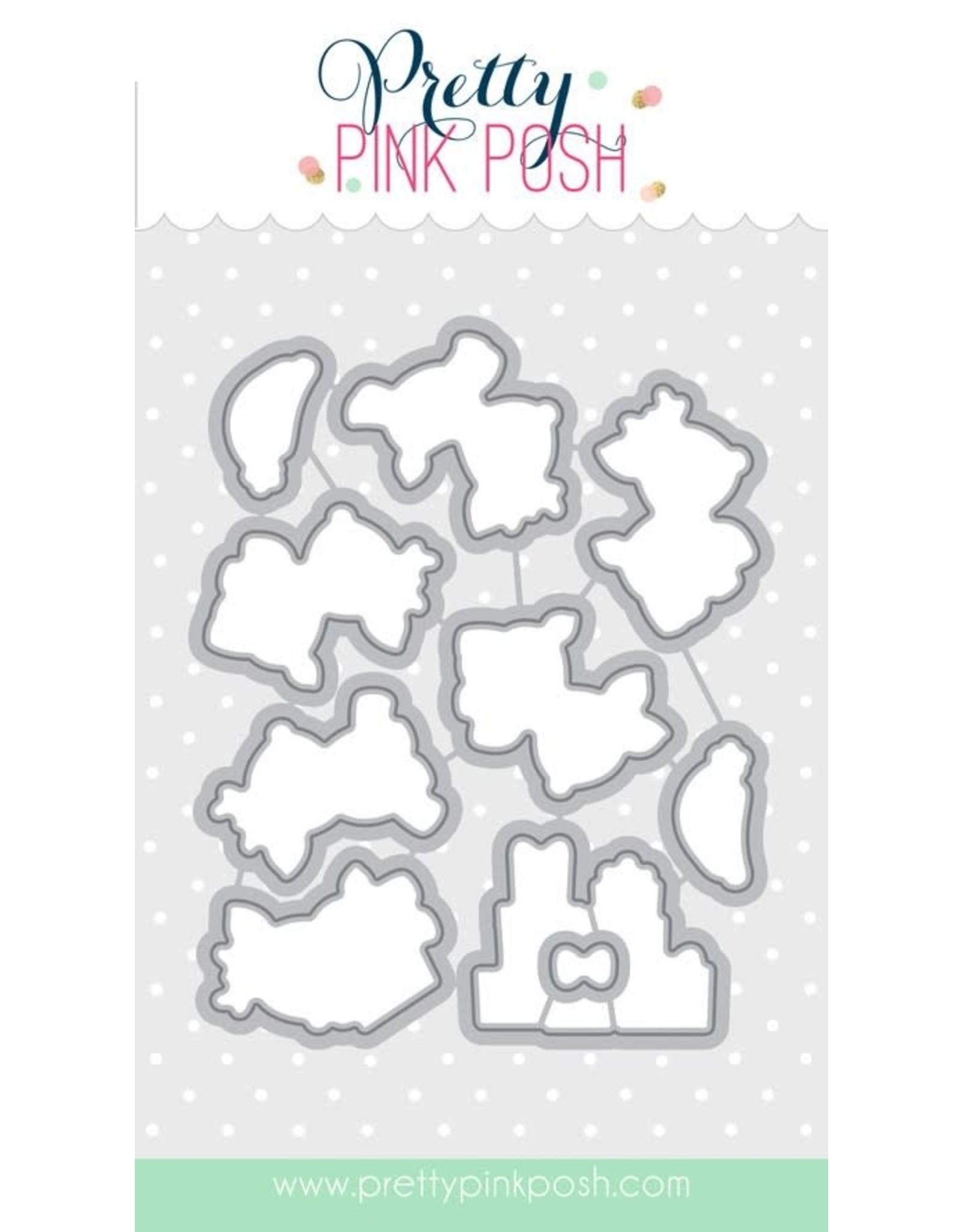 Pretty Pink Posh Reindeer Friends - Die Set