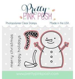 Pretty Pink Posh Happy Snowman - Die Set