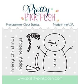 Pretty Pink Posh Happy Snowman - Clear Stamp Set