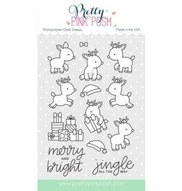 Pretty Pink Posh Reindeer Friends - Clear Stamp Set