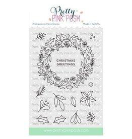 Pretty Pink Posh Winter Wreath - Clear Stamp Set