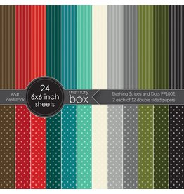 Memory Box Dashing Stripes and Dots - 6x6 Paper Pad