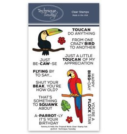 Technique Tuesday Tommy & Polly the Tropical Birds - Clear Stamp Set