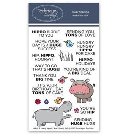 Technique Tuesday Helen & Harry the Hippos - Clear Stamp Set