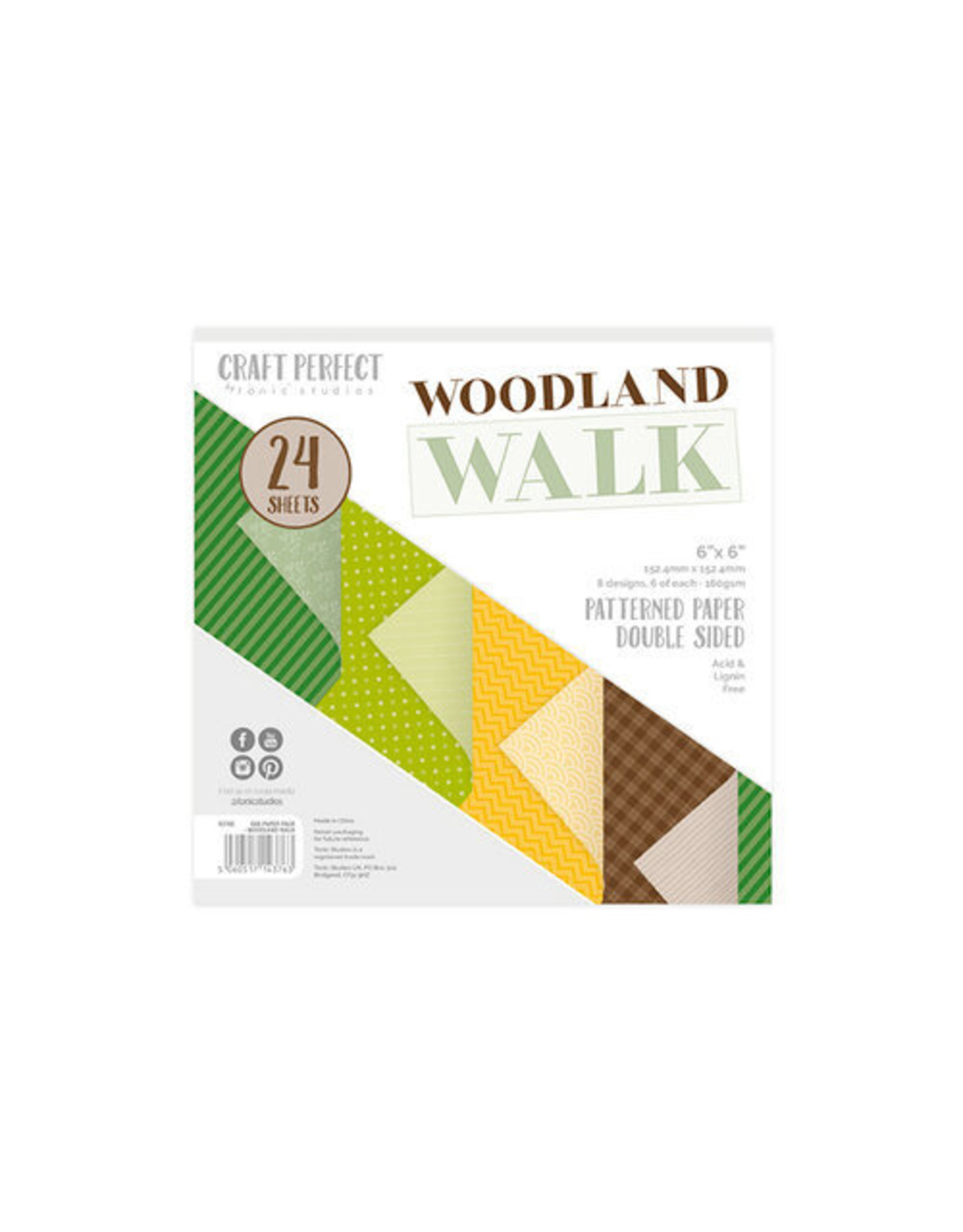 Craft Perfect Woodland Walk - 6x6 Paper Pad