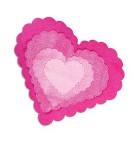Ellison/Sizzix Hearts Scallop  - Framelits