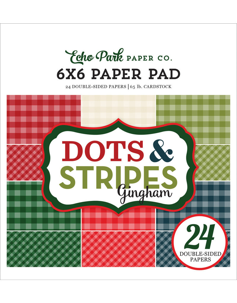 Echo Park Christmas Gingham - 6x6 Paper Pad