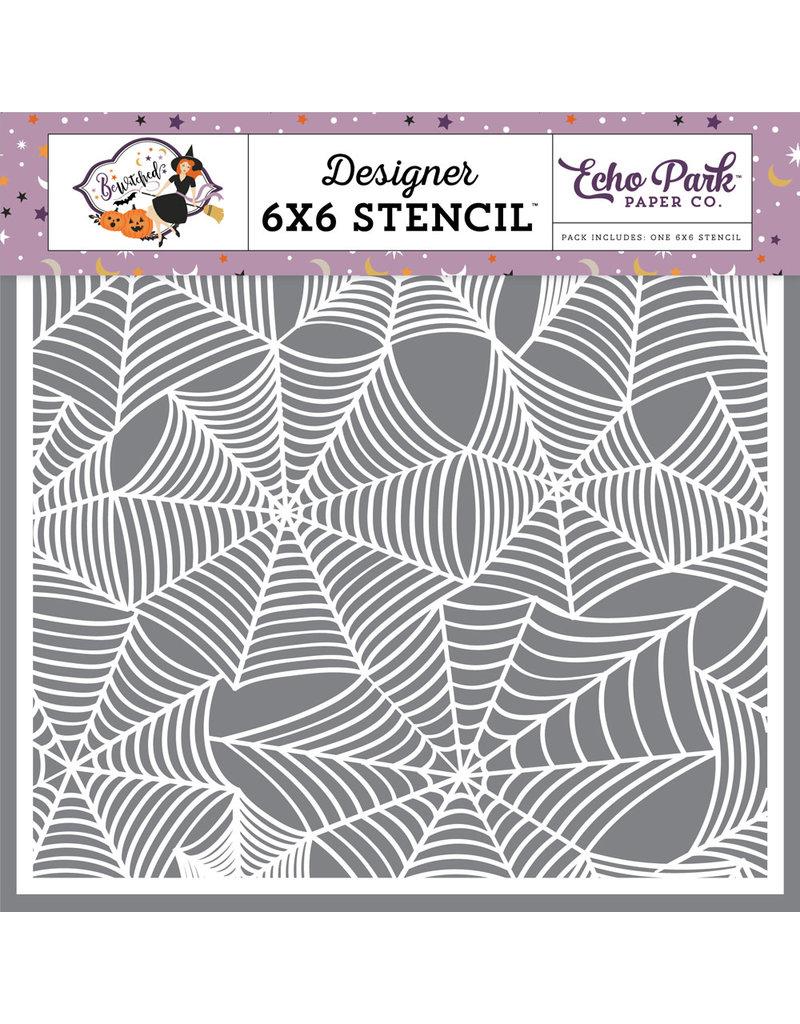 Echo Park Spider Cobwebs - 6x6 Stencil