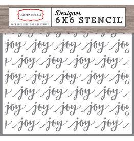 Echo Park Joy Script - 6x6 Stencil