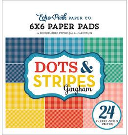 Echo Park Summer - Dots & Stripes Gingham - 6x6 Pad