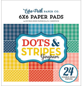 Echo Park Summer Gingham - 6x6 Pad (40%)