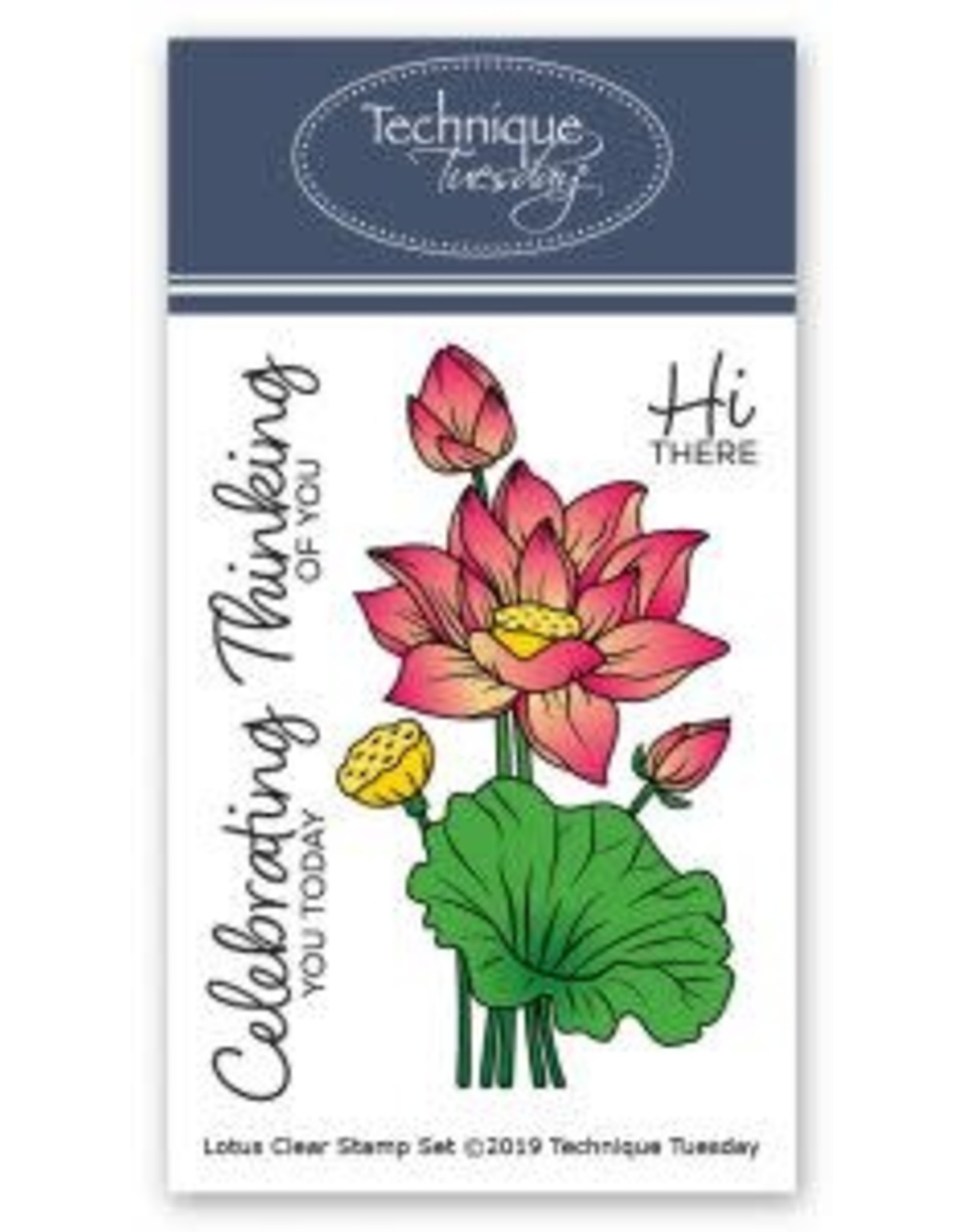Technique Tuesday Lotus (Greenhouse Society) - Clear Stamp Set