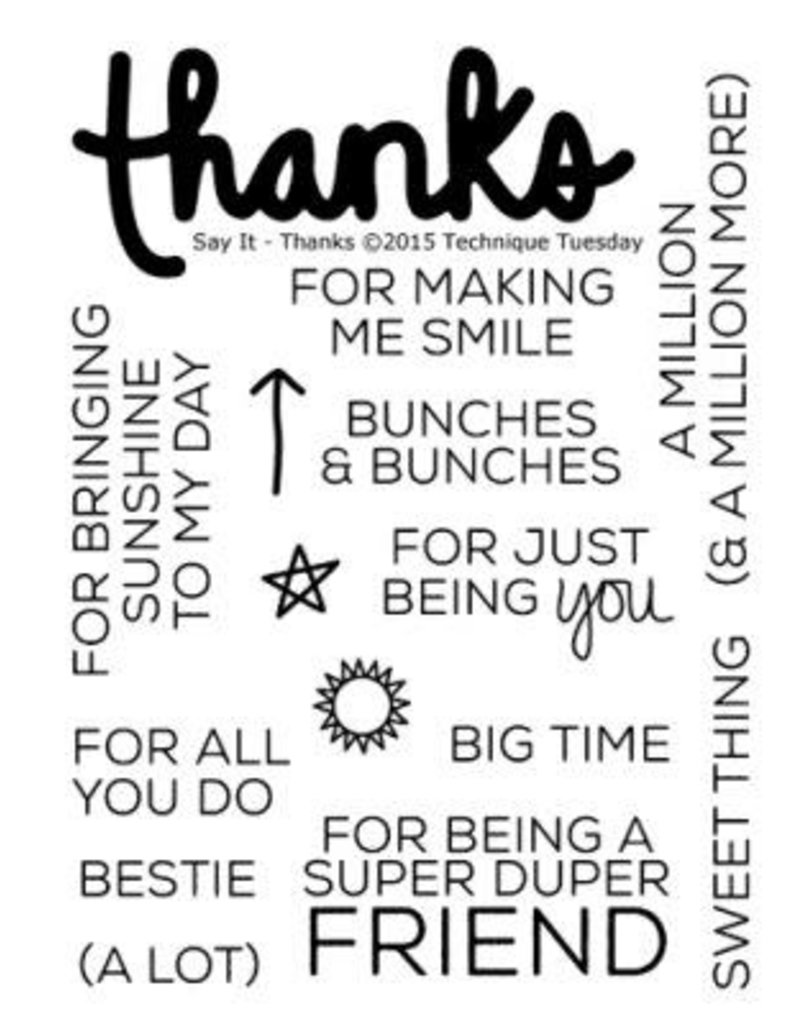 Technique Tuesday Say It Thanks - Clear Stamps