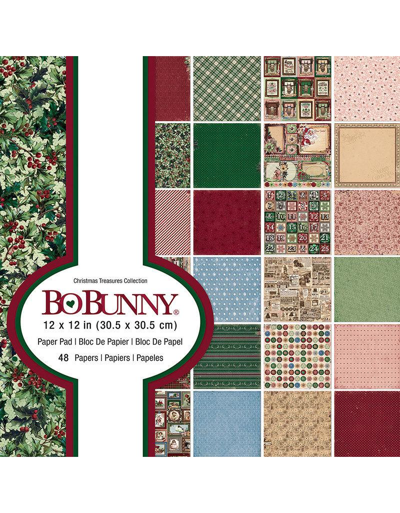 Bo Bunny Christmas Treasures 12x12 Collection Paper Pad