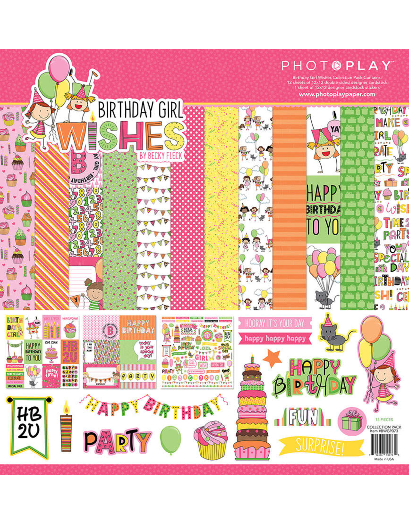 Photo Play Birthday Girl Wishes Collection Pack