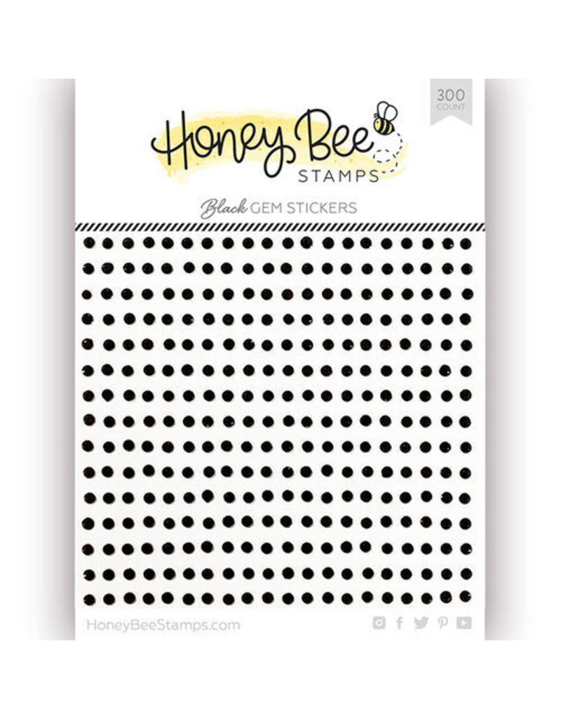 Honey Bee Stamps Gem Stickers - Black