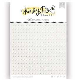 Honey Bee Stamps Gem Stickers - White