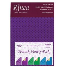 Rinea Peacock Foiled Paper Variety Pack