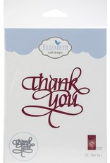 Elizabeth Craft Designs Thank You 2 - Die