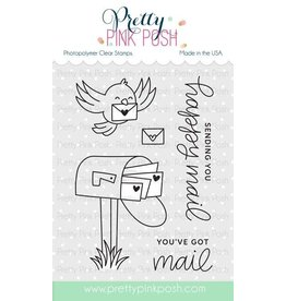 Pretty Pink Posh Happy Mail - Clear Stamp Set