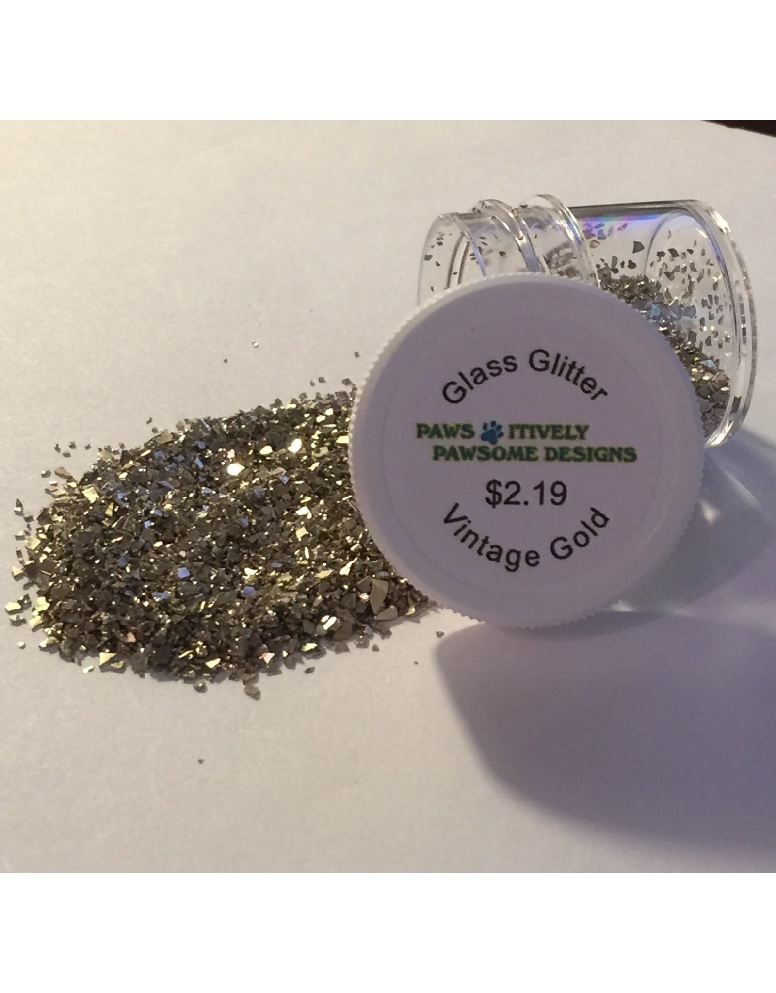Paws-Itively Pawsome Designs Glass Glitter - Vintage Gold