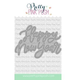 Pretty Pink Posh Happy New Year Script - Die Set