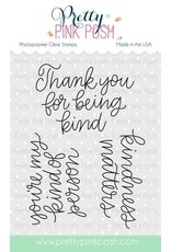 Pretty Pink Posh Simple Sayings Kind - Clear Stamp Set