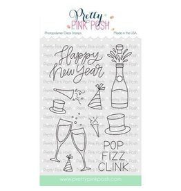 Pretty Pink Posh Happy New Year - Clear Stamp Set
