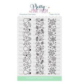 Pretty Pink Posh Winter Borders - Clear Stamp Set